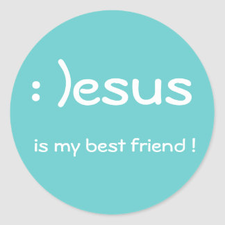 Jesus is my best friend ! Sticker