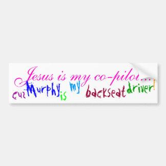 Jesus Is My Co-pilot... (bumper sticker) - Brt Pnk Car Bumper Sticker