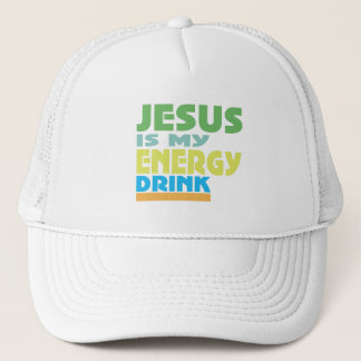 Jesus is my Energy Drink Trucker Hat