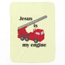 Jesus Is My Engine Baby Blanket