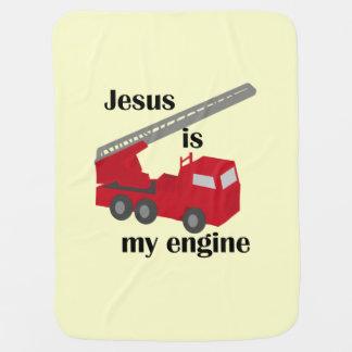 Jesus Is My Engine Baby Blanket