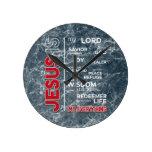 Jesus is my Everything Word Cloud Round Clock