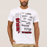 Jesus is my Everything Word Cloud T-Shirt