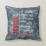 Jesus is my Everything Word Cloud Throw Pillow