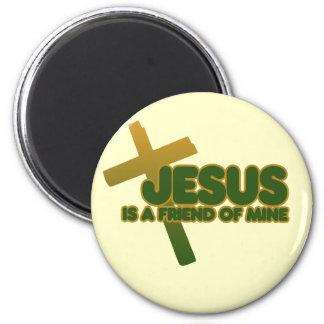 Jesus is my friend 2 inch round magnet