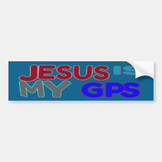 Jesus Is My GPS Bumper Sticker