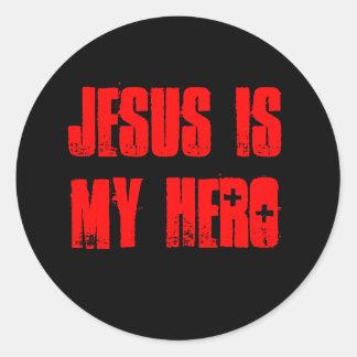 'Jesus Is My Hero' sticker