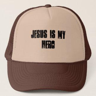 JESUS IS MY HERO TRUCKER HAT