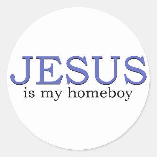 Jesus is my Homeboy Classic Round Sticker