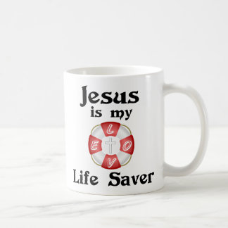 Jesus is my life saver coffee mug