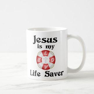 Jesus is my life saver classic white coffee mug