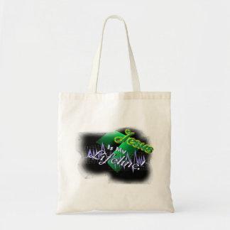 Jesus is my lifeline!-use tote bag