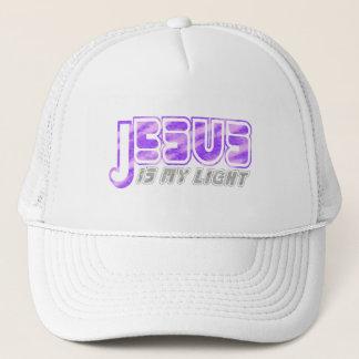 Jesus is my light 2 Fushia Gris. Trucker Hat