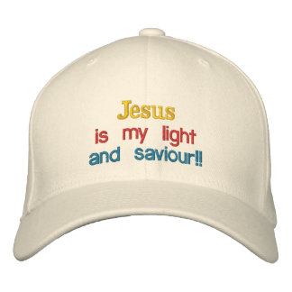 Jesus is my light , and saviour!!, embroidered baseball hat