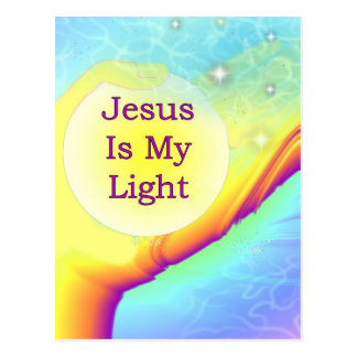 Jesus Is My Light Postcard