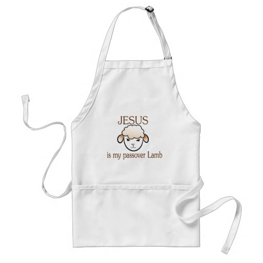 Jesus is my passover Lamb Adult Apron