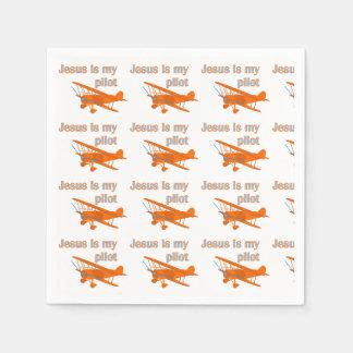 Jesus Is My Pilot II Patterned Paper Napkin