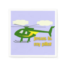 Jesus Is My Pilot Napkin