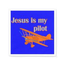 Jesus Is My Pilot Paper Napkin