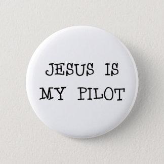 Jesus Is My Pilot Pinback Button