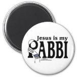 Jesus is my RABBI 2 Inch Round Magnet