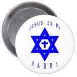 Jesus is my Rabbi Pinback Button
