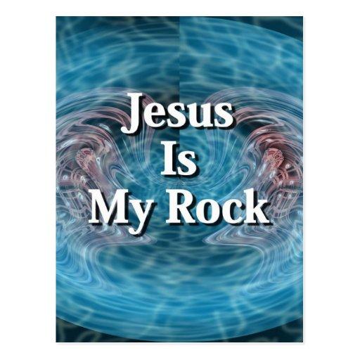 Jesus Is My Rock Postcard
