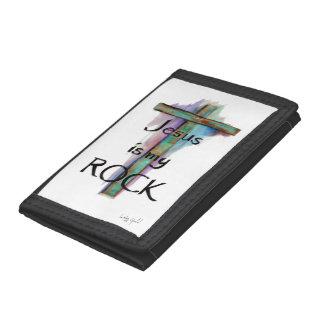 Jesus is my Rock Tri-fold Wallet Tri-fold Wallet