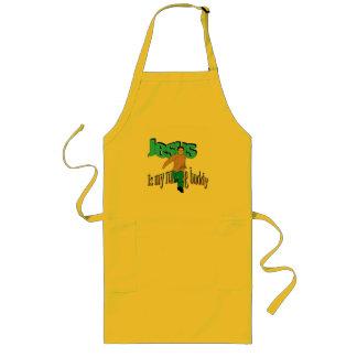 Jesus is my running buddy long apron