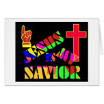 Jesus is my Savior Christian Gift Greeting Cards