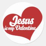 Jesus is my Valentine Classic Round Sticker