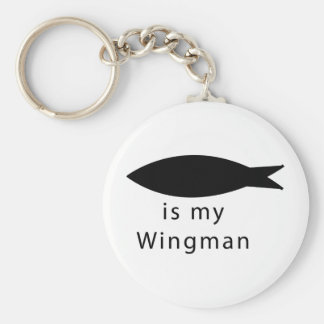 Jesus Is My Wingman Basic Round Button Keychain