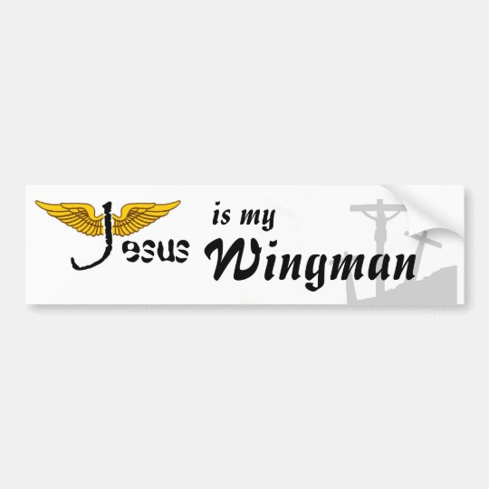 Jesus is my Wingman bumper sticker