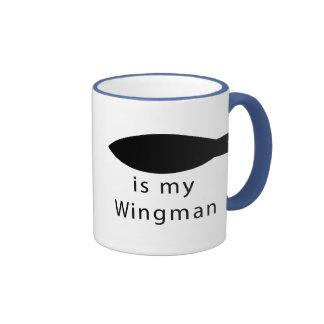 Jesus Is My Wingman Ringer Mug