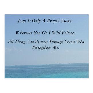 Jesus is Only A Prayer Away Postcard