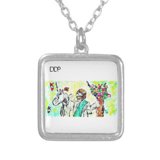 Jesus is only king silver plated necklace