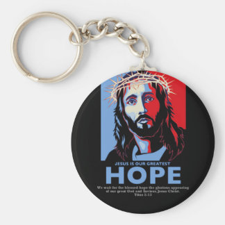 Jesus is Our greatest Hope Keychains