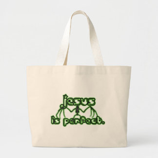 Jesus is Perect... Look a miraculous bat. Canvas Bags