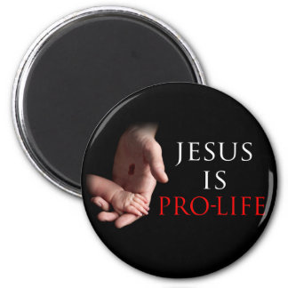 Jesus Is Pro-Life 2 Inch Round Magnet