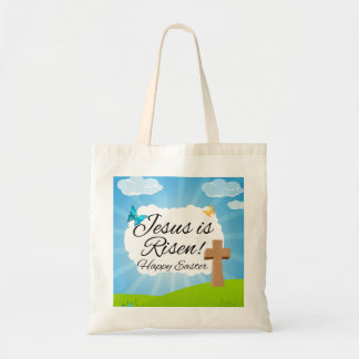 Jesus is Risen, Christian Easter Tote Bags