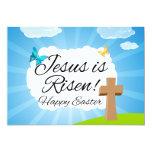"Jesus is Risen, Christian Easter 5"" X 7"" Invitation Card"