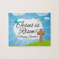 Jesus is Risen, Christian Easter Jigsaw Puzzle