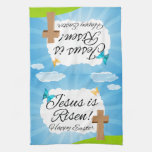 Jesus is Risen, Christian Easter Kitchen Towels