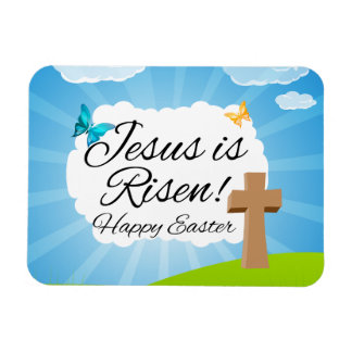 Jesus is Risen, Christian Easter Vinyl Magnets