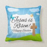 Jesus is Risen, Christian Easter Throw Pillow