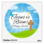 Jesus is Risen, Christian Easter Wall Stickers