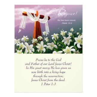 Jesus is Risen! Easter Church Bulletins Letterhead