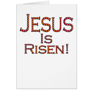 Jesus Is Risen! (party pattern) easter card