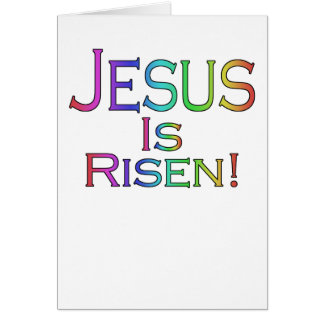 Jesus Is Risen! (rainbow) easter card