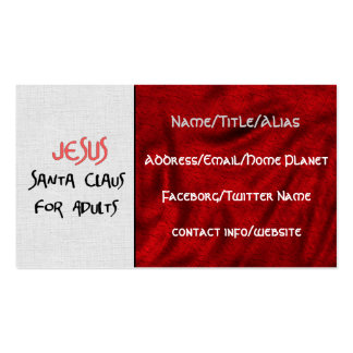 Jesus Is Santa For Adults Business Cards
